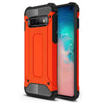 Military Defender Shockproof Case for Samsung Galaxy S10 - Red